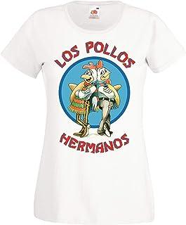 TRVPPY Damen T-Shirt Shirt Modell Los Pollos Hermanos