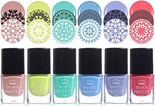 Born Pretty 6ml Stamping Polish colourful Nail Art Plate Printing Polish Polish 6 Colors