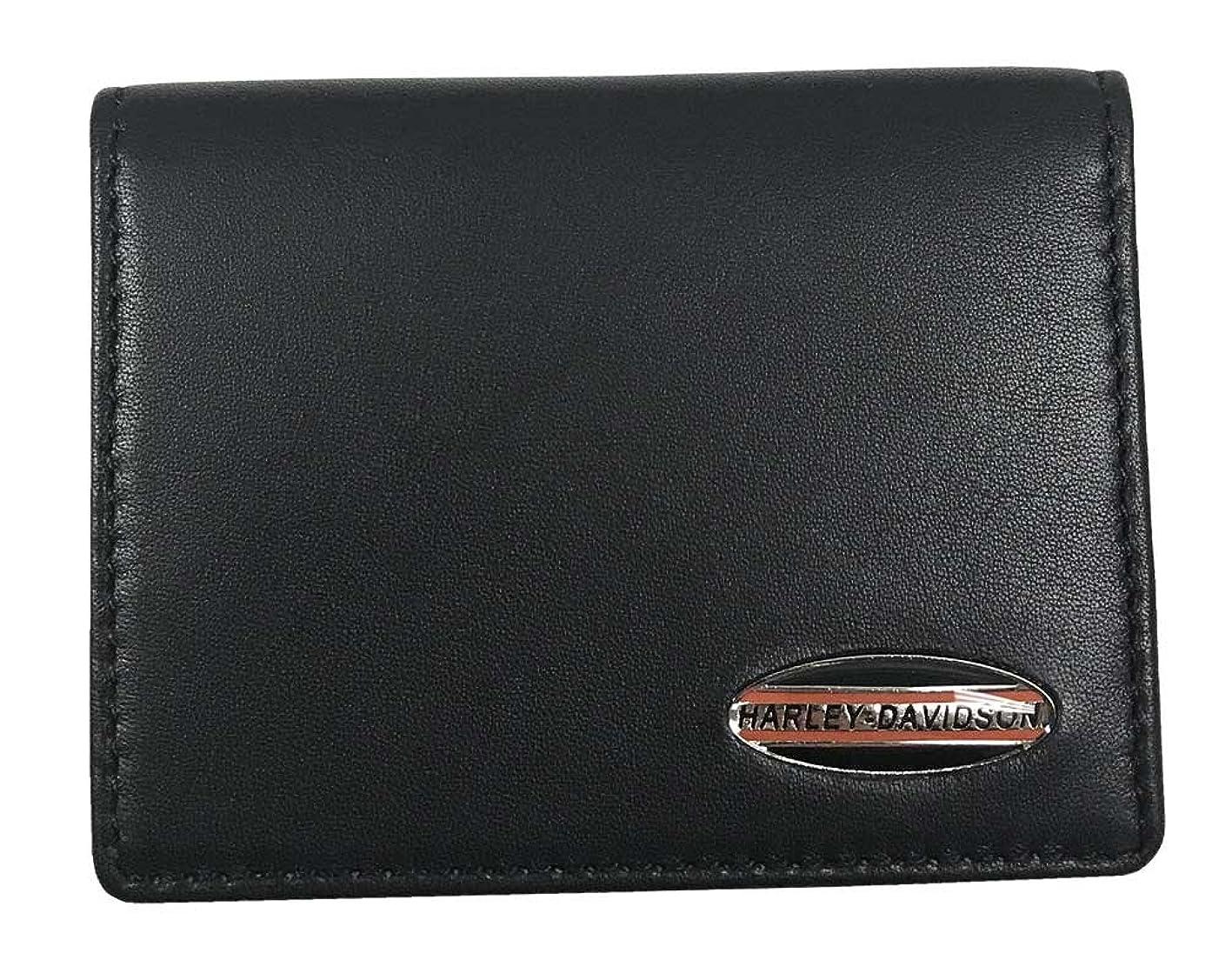 健全材料分子ハーレーダビッドソンメンズソフトNapaレザーC。C。キャディ財布、ブラックnp5758l-black