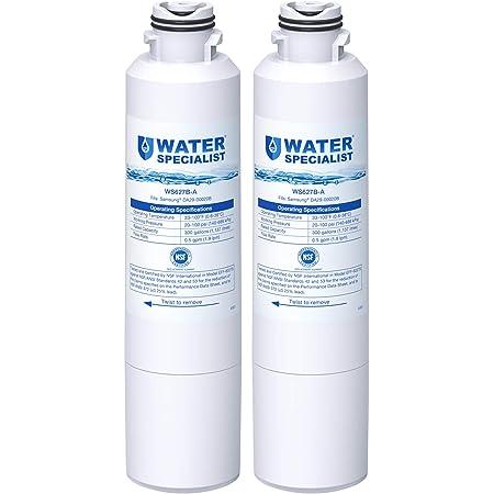 Waterspecialist DA29-00020B Refrigerator Water Filter, Replacement for Samsung HAF-CIN, HAF-CIN/EXP, DA29-00020A/B, DA97-08006A, DA2900020B, RF28HMEDBSR, RF4287HARS, 2 Filters