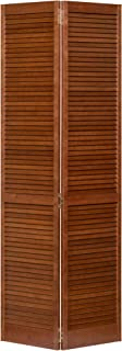 Kimberly Bay Traditional Louver Louver Espresso Solid Core Wood Bi-fold Door (80x36)