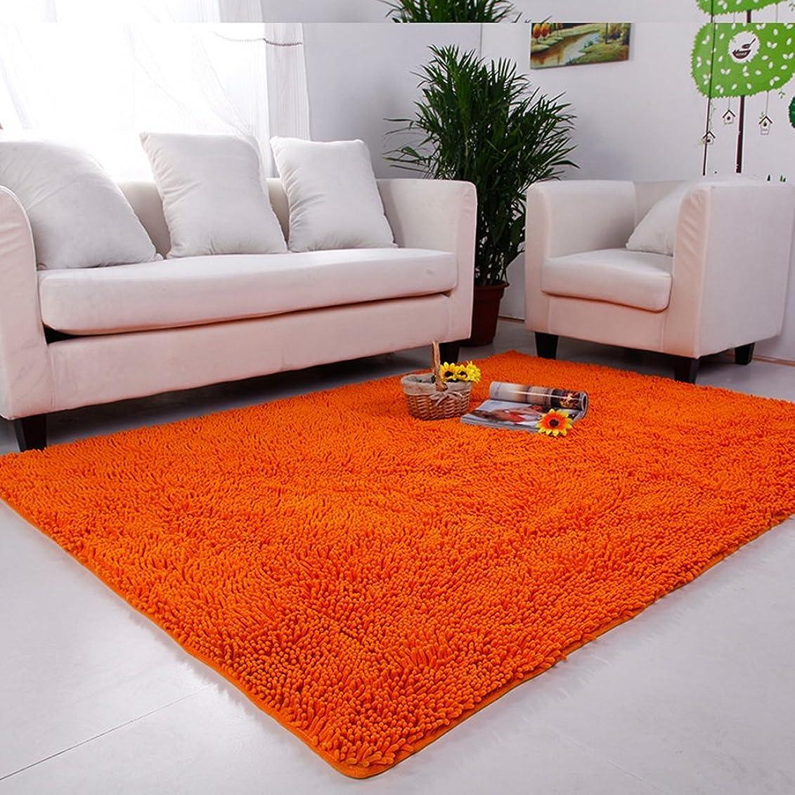 インテリア貸すコショウラグスーパーマーケット - 水シャリーユリビングルームベッドルームコーヒーテーブルカーペットかわいいベッドサイドウェディングルームカーペット ( 色 : オレンジ , サイズ さいず : 120*160cm )