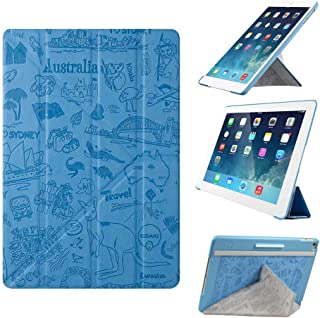 iPad Air 2 Case - OZAKI O!coat Travel Versatile New Generation 360° Multi-Angle Smart Case For Apple iPad Air 2 / Y-TECH for Steady Portrait & Landscape View / Slim & Stylish / Auto On & Off - Sydney