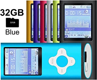 G.G.Martinsen White on Blue Versatile MP3/MP4 Player, Support Photo Viewer, Mini USB Port 1.8 LCD, Digital MP3 Player, MP4 Player, Video/Media/Music Player