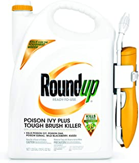 Roundup 5203980 Poison Ivy Plus Tough Brush Killer Ready-to-Use Comfort Wand Sprayer, 1.33-Gallon