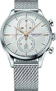 Louis Erard Men's Heritage Collection Silver Dial Chrono 78289AA31M Watch Milanese strap
