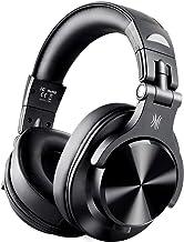 OneOdio FUSION A7 Auricurales Circumaurales Inalámbricos de Cable 3.5mm, Diadema Cerrado 90°Ajustable Auricurales Plegables Bluetooth con Micrófono de 40mm y Calidad de Sonido Profesional de DJ