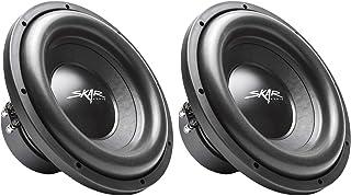 "$199 » (2) Skar Audio SDR-12 D4 12"" 1200W Max Power Dual 4 Ohm Car Subwoofers, Pair of 2"