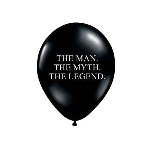 The Man Myth Legend Balloons In Black And White Birthday Party Decorations For