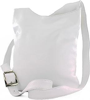 modamoda de - T221 - ital. Umhängetasche Schultertasche Medium aus Leder