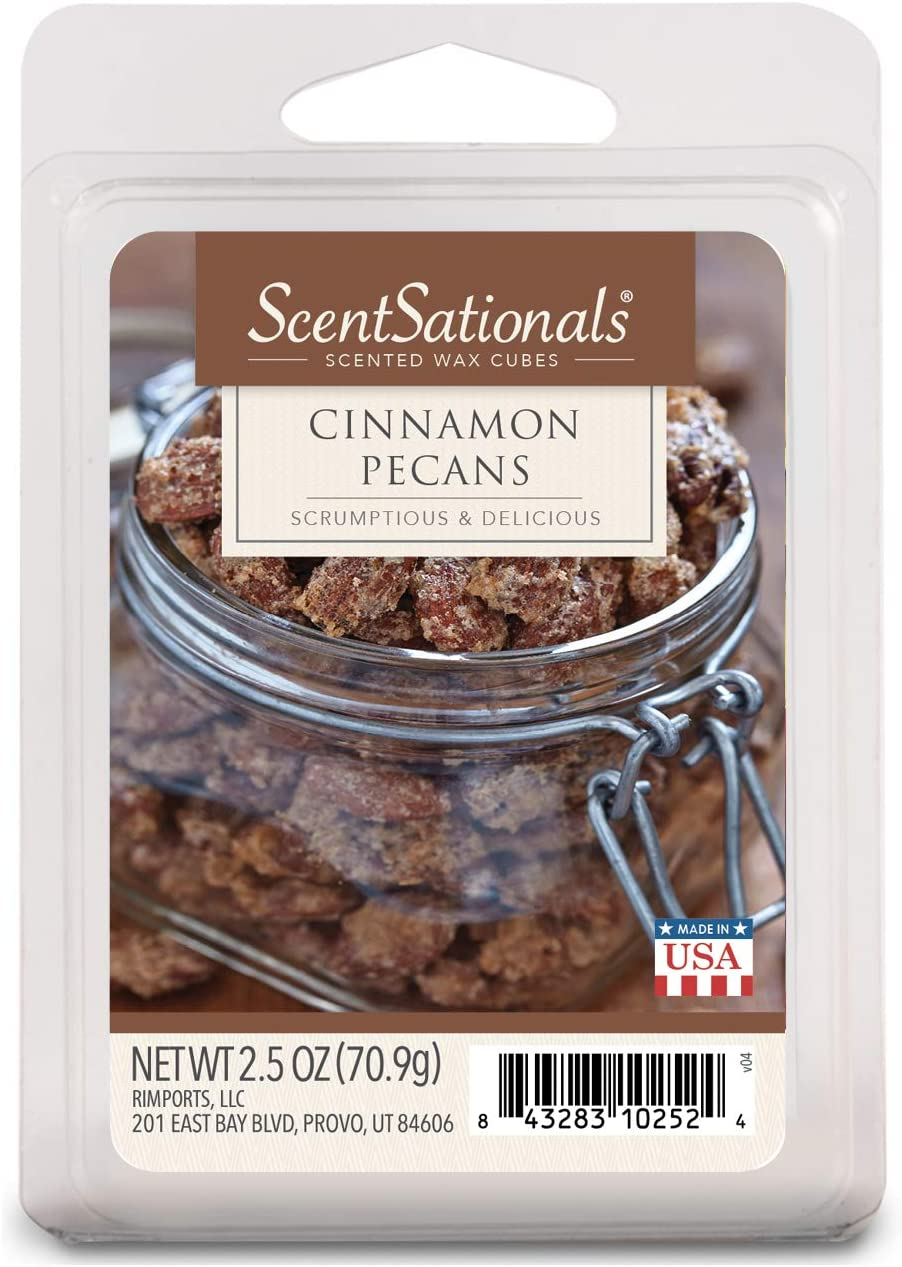 Scentsationals Scented Wax Cubes - Limited Edition - Fragrance Wax Melts Pack, Electric Home Warmer Tart, Wickless Candle Bar Air Freshener, Spa Aroma Decor Gift - 2.5 oz (Cinnamon Pecans)