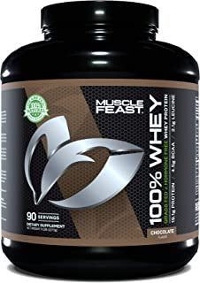 Sponsored Ad - Muscle Feast 100% Whey Protein Powder, Grass Fed & Hormone Free, Blend of Concentrate, Isolate, and Hydroly...