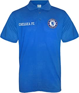 Chelsea Football Club Official Soccer Gift Mens Crest Polo Shirt