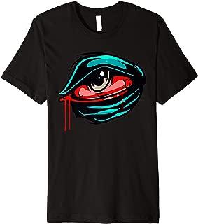 Bleeding Eye Skateboard Eyeball Biden Skater Rad Weird Skate Premium T-Shirt