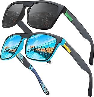 LEDING&BEST Occhiali da sole polarizzati per uomo donna/Pesca Golf Bicicletta Guida Pesca arrampicata Sport all'aperto occ...