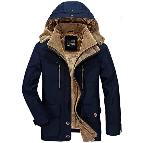 9efa5113b WS668 Mens Winter Detachable Hooded Heavy Coat Cotton Thick Military Jackets  Warm Plus Velvet Lining Parka