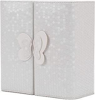 Jewelry Box Princess European-Style Korean Jewelry Box Storage Box Multi-Function Earrings Earrings Jewelry Storage Box Earrings Box (Color : White)