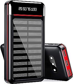 モバイルバッテリー 大容量 25000mAh 3つLEDライト搭載 急速充電 MicroとType入力+3USB出力ポート(各最大2.4A) LCD残量表示 PSE認証済 スマホ多機種に対応 地震・旅行・出張に必需品