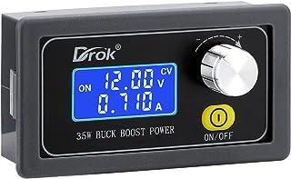 DC Buck Boost Converter, Drok 5V to 30V Step Up Digital Control Power Supply, 30V to 0.6V Step Down Module, 6V 12V 24V Vol...