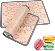 Silicone Baking Mats, Kmeivol 2 Pack Durable Baking Mat, Non-sticky Pastry Mat with Measurements, BPA Free Macaron Silicon...
