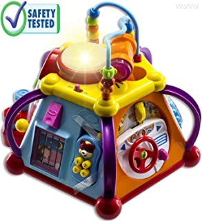 WolVol Educational Kids Toddler Baby Toy Musical Activity Cube Play Center with Lights, Lots of Functions and Skills for Learning and Development