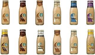 LUV BOX - Starbucks Frappuccino Variety Pack 13.7oz Glass Bottle, 12 Per Case, Mocha, Vanilla, Caramel, Coffee, Almond Milk Mocha, Almond Milk Vanilla, Caramelized Honey Vanilla & More