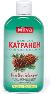 Pine-Tar Shampoo - Stops Dandruff Helps Clear Seborrhea Soothes & Heals Inflammed Scalp -200ml by Milva