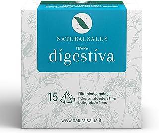 NATURALSALUS - Tisana Digestiva 100% Naturale, Utile per Combattere il Gonfiore Addominale - 15 Filtri Biodegradabili