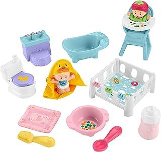Fisher-Price Little People Baby Love & Care Set de regalo, figura y accesorios para niños pequeños y preescolares de 1 ½ 5 años