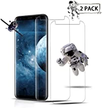 [2-Pack] Galaxy S8 Plus,Tempered Glass Screen Protector [Easy to Install][Anti Fingerprint] 3D Curved Screen Protector Compatible Samsung Galaxy S8 Plus