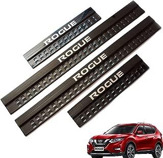Weigesi Stainless Steel Door Sills Scuff Plate for Nissan Rogue 2014-2019 Black
