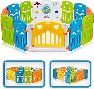 Baby Vivo Large Baby Plastic Big Playpen Colors Foldable Portable Room Divider Child Kids Barrier Expandable COLORS