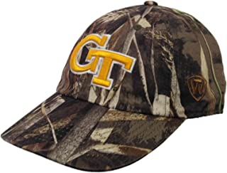 Top of the World Georgia Tech Yellow Jackets Tow Realtree Max-5 Camo Crew Adjustable Hat Cap