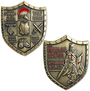 Armor of God EPH 6:13-17 Challenge Coin Shield of Faith
