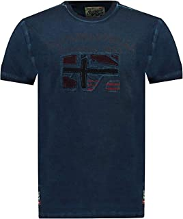 Geographical Norway JOTZ Men - Camiseta De Algodón para Hombre - Camisetas Clasico Logo Graphic - Modelo Manga Corta - Cue...