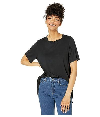 Volcom Coco Side Tie Short Sleeve Shirt (Black) Women
