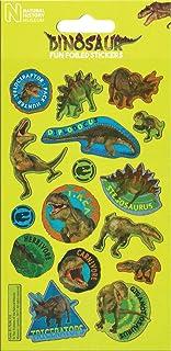 Paper Projects 01.70.06.133 Muzeum Historii Naturalnej Dinozaury Błyszczące naklejki wielokrotnego użytku, zielone, 19,5 c...
