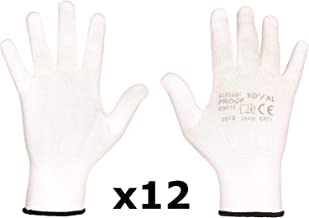 c/ómodos de usar y de trabajar 1, Talla 7 normas europeas CE guantes de jardiner/ía Guantes de trabajo en cuero de cabra CAT II S PONY guantes de construcci/ón EN 388