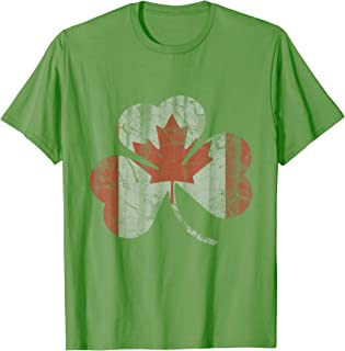 Canada Irish Shamrock Shirt Canadian St Patricks Day
