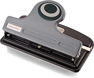Officemate Contemporary 3-Hole Eco-Punch, 30-Sheet Capacity, Recycled,Black/Gray/Green (90133)