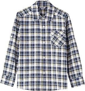 Boy's Warm Flannel Button Down Long Sleeve Plaid Shirt
