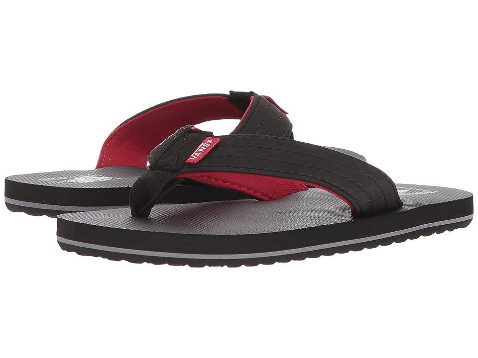 Vans Kids T Street Jr. (Little Kid/Big Kid) (Black/Red) Boys Shoes