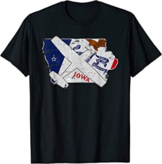 Iowa Pilot State Flag C172 Skyhawk Airplane Vintage T-Shirt