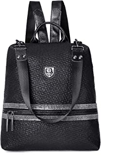 JOSEKO Mode Rucksäcke Damen, Frauen Stilvolle Tagesrucksack PU Leder Tote Handtasche Vintage Schultertasche Casual Daypack...