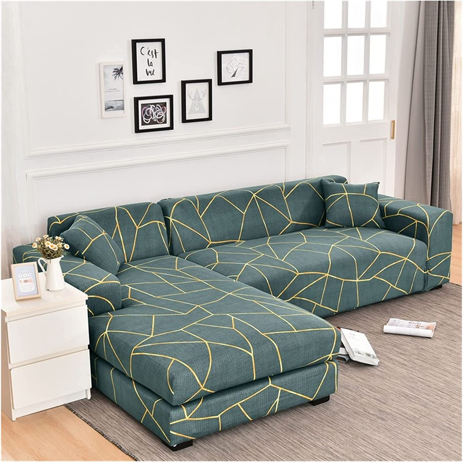 Sofa Seattle Mall Save money Cover Elastic Sectional L-Shape Slipcover Corner Couch