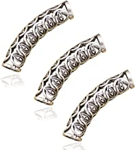 RechicGu Pack 3 Silver Norse Lucky Evil Eye Viking Beard Bead Rasta Dreadlocks Braid Hair Dress Clip Pin