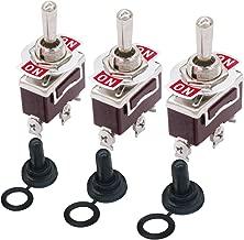 HiLetgo 10pcs MTS-103 6A//125V 3A//250V ON//OFF//ON 3 Terminals 3 Position SPDT Toggle Switch Single Joint