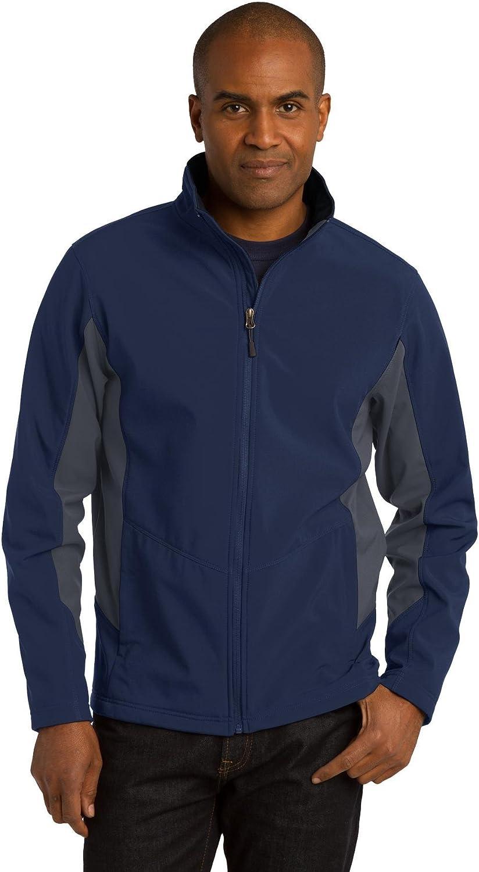 Port Authority Men's Core Colorblock Soft Shell Jacket XL DB Nvy/Bat Gry