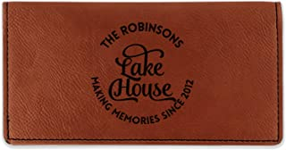 Lake House #2 Leatherette Checkbook Holder - Double Sided (Personalized)
