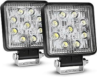 Piezas para coche Coche y moto Safego 12 V 24 V 27 W LED Luces de Trabajo lámpara para camión Offroad 4 x 4 ATV Tractor 60 Degree inundación Haz 27 WR-FL Pack de 2